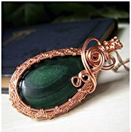 Copper Malachite Pendants