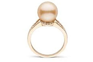 Golden South Sea Pearl Ring