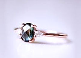 Green Sapphire Wedding Ring