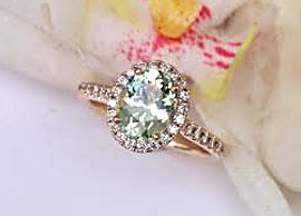 Mint Green Sapphire Ring