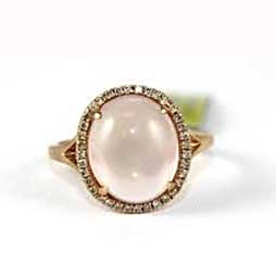 Star Rose Quartz Ring