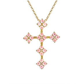 Rose Quartz Cross Pendant