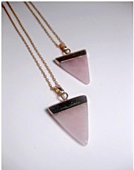 Rose Quartz Triangle Pendant