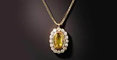 Yellow Sapphire Pendants