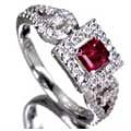Red Beryl Ring