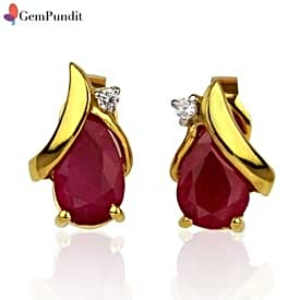 Ruby Pear Shape Earrings