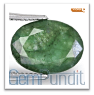Emerald with Fissures