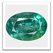 Emerald with Specks (Inclusions)