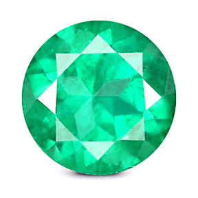 Round Cut Colombian Emerald