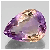 Pear shape Ametrine