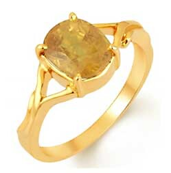 Antique Yellow Sapphire Ring