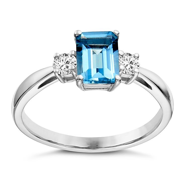 Aquamarine Combination Rings