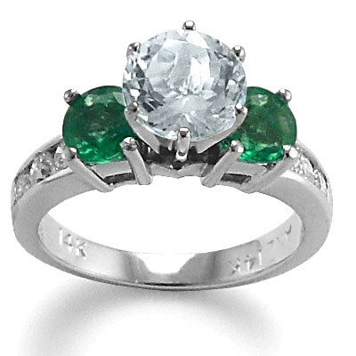 Aquamarine Emerald Ring