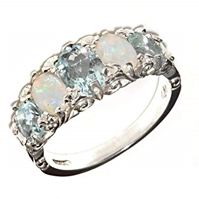 Aquamarine Opal Stone Ring