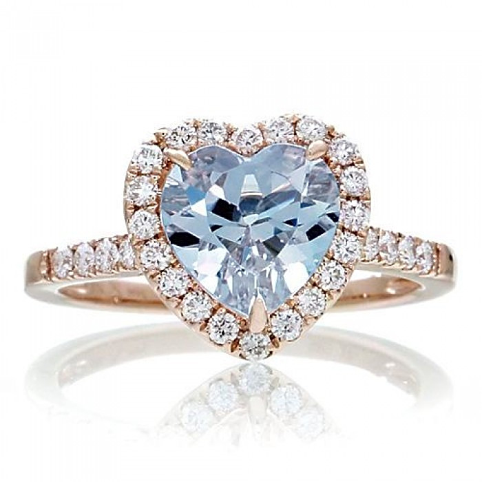 Aquamarine Promise Ring