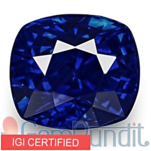 IGI certified Kashmir Blue Sapphire