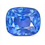 Cushion cut Cornflower Blue Sapphire