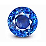 Round cut Cornflower Blue Sapphire