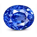 Oval cut Cornflower Blue Sapphire