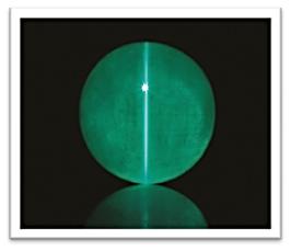 Cat's eye Emerald