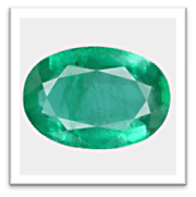 Color variation in Zambian emerald stone (Low to High)