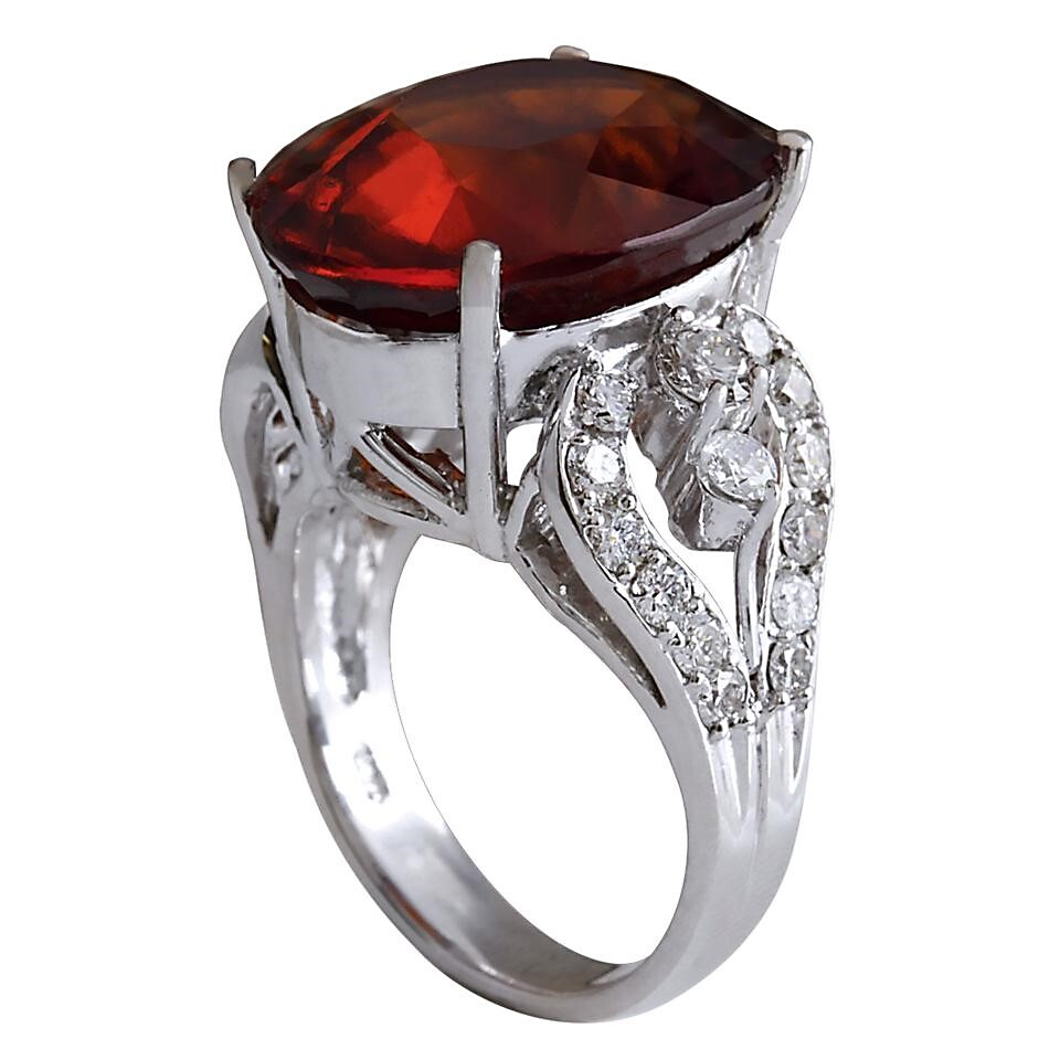 Hessonite Gold Ring for Women