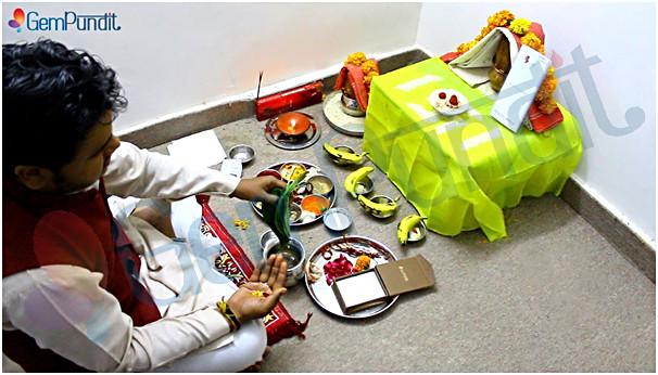 Vedic Pooja of Yellow Sapphire