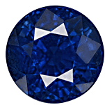 Round cut Kashmir Sapphire