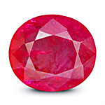 Round cut Mozambique Ruby