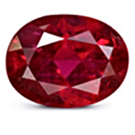 Oval cut Mozambique Ruby
