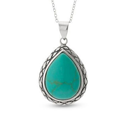Natural Turquoise Teardrop Pendant