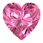 Pink Tourmaline Heart Shape