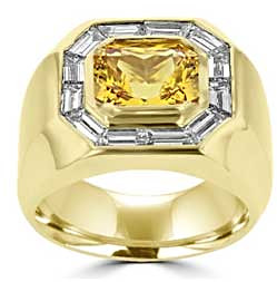 Pukhraj Engagement Ring for Man