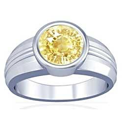 Pukhraj Silver Ring
