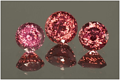 Picture of Red Tourmaline displaying Color Variation