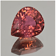 Pear shaped Red Tourmaline