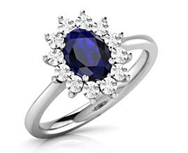 blue sapphire gemstone ring