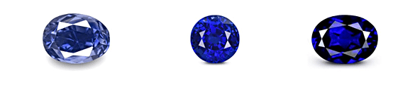 Color Variation in Royal Blue Sapphire
