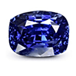 Cushion cut Royal Blue Sapphire