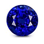 Round cut Royal Blue Sapphire