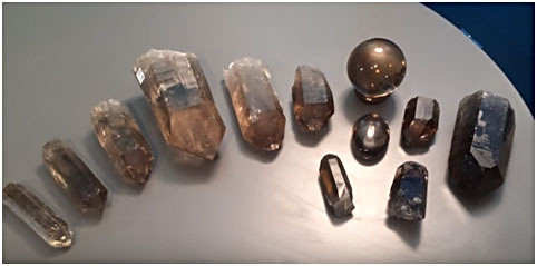 Smoky Quartz in different sizes
