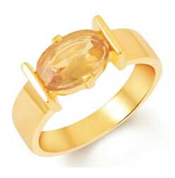 Stylish Gold Ring with Pukhraj Stone for Me