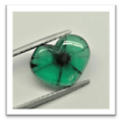 Trapiche Emerald in different Shapes