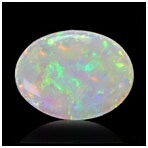 White Opal with Evenly Spread Play of Color