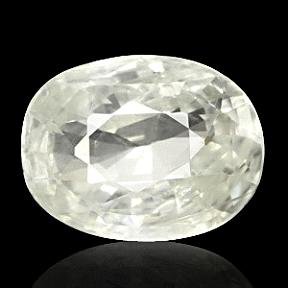 Oval cut White Sapphire