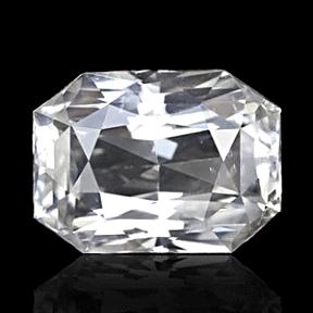 Octagonal cut White Sapphire