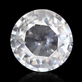Round cut White Sapphire