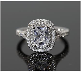 A White Zircon Ring