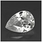 Pear shape white zircon