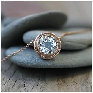 White Zircon Amulet